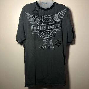 XL HARD ROCK CAFE DISTRESSED Graphic T Shirt Gray